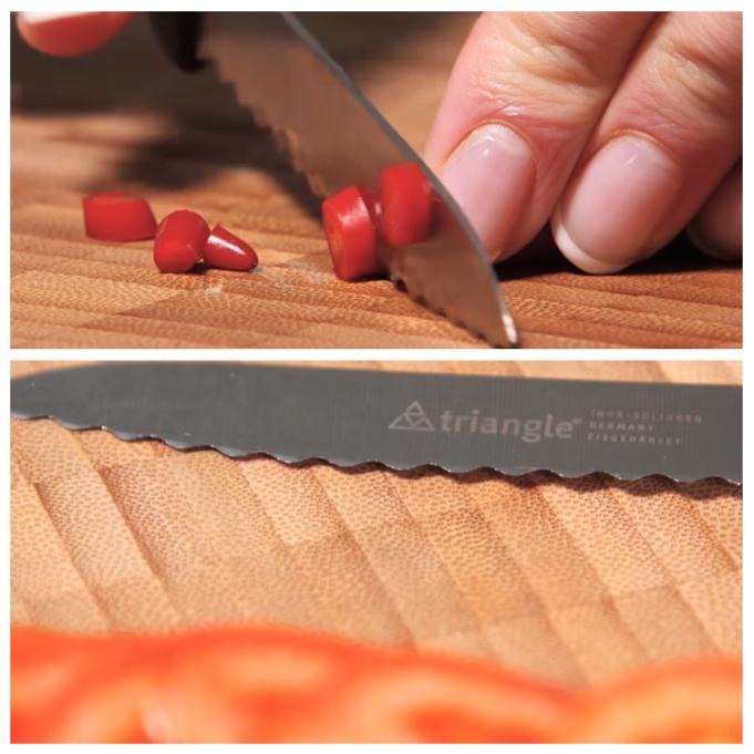 couteau lame dentelee legumes fruits